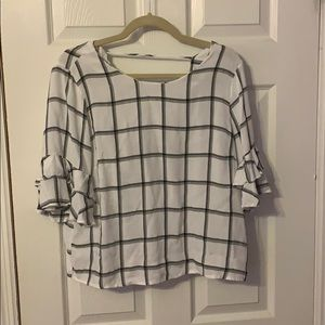 Forever 21 Contemporary Line Paneled Blouse